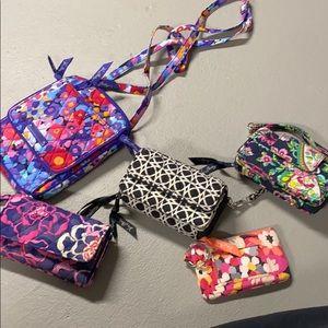 5 Vera Bradley bags/wallets